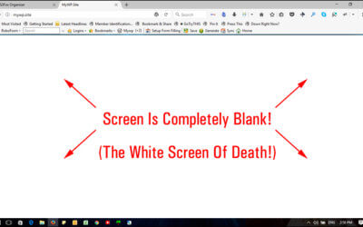 Λευκή οθόνη White Screen of Death στο WordPress