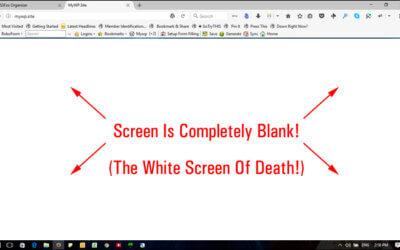Λευκή οθόνη White Screen of Death στο WordPress                                        5/5(1)