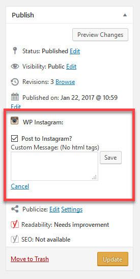 Από το WordPress στο Instagram - Δημοσιεύστε αυτόματα
